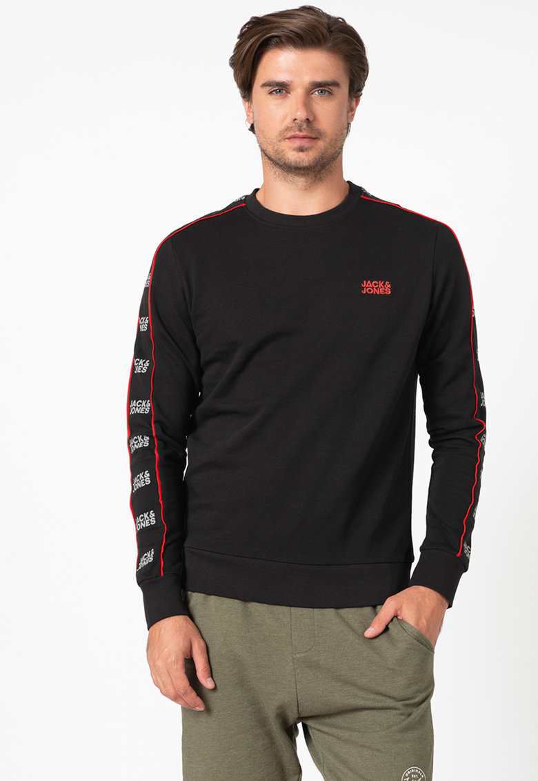 Bluza sport regular fit cu segmente logo Ronny