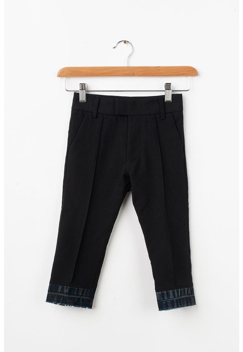 Pantaloni cu insertii de denim Prido