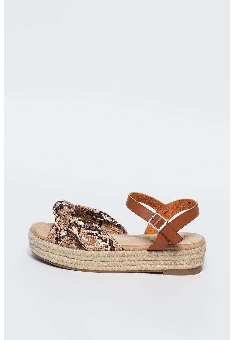 Sandale flatform tip espadrile Ssyna