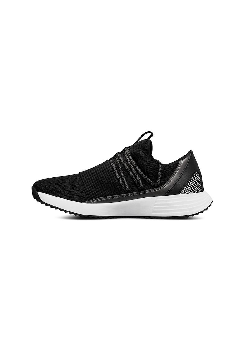 Pantofi sport slip-on cu garnituri de piele