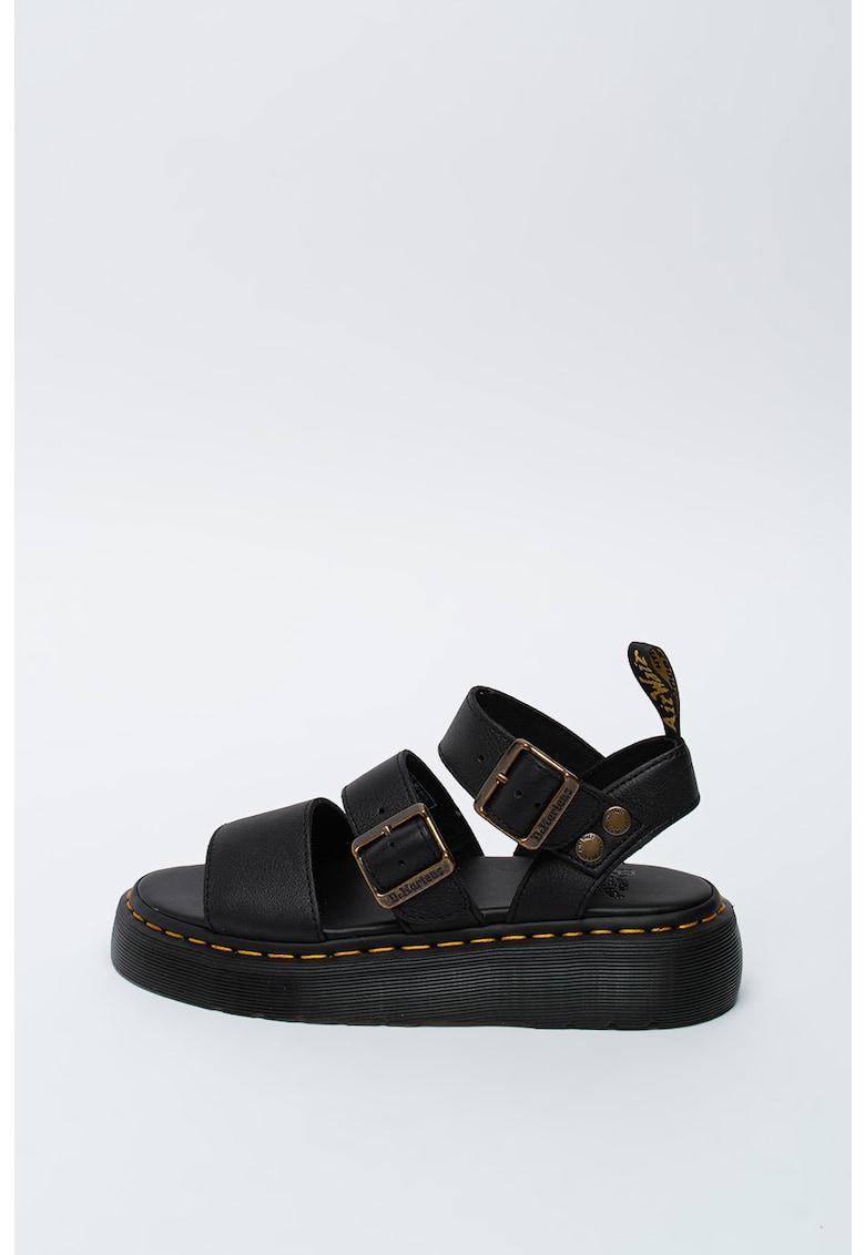 Sandale de piele cu cusaturi contrastante Gryphon