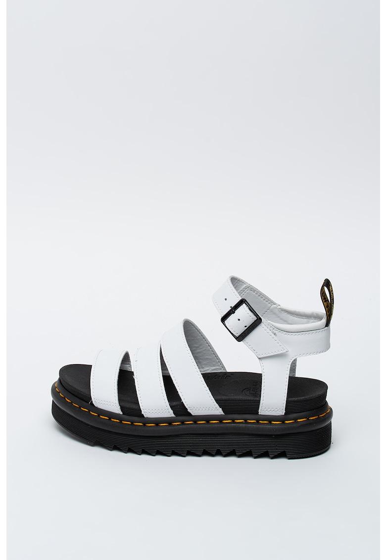Sandale flatform de piele Blaire