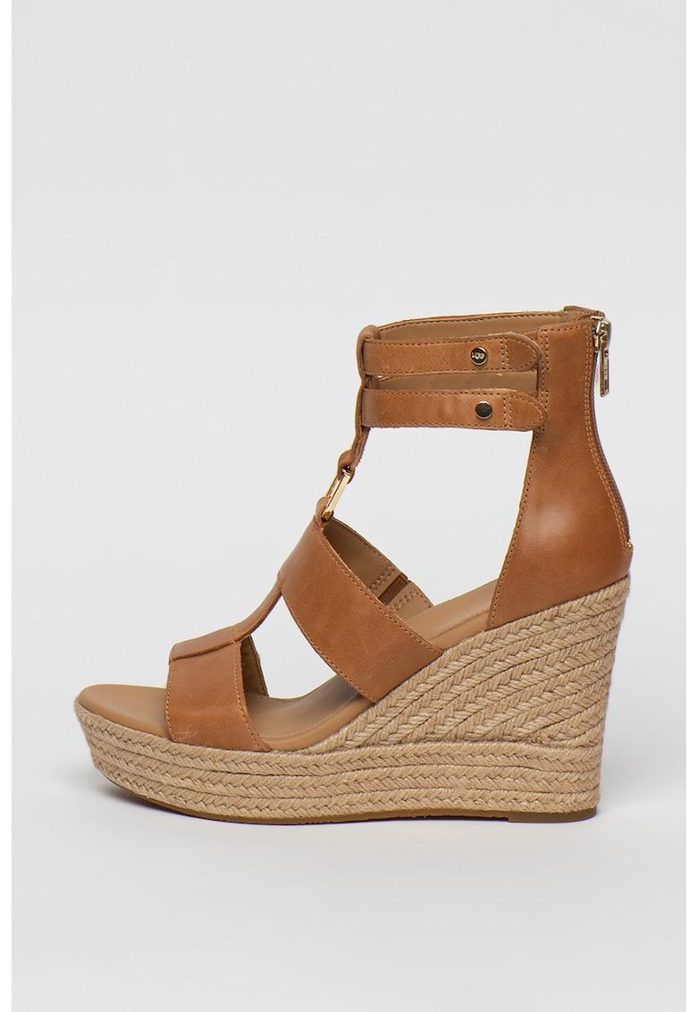Sandale wedge tip espadrile de piele Kolfax