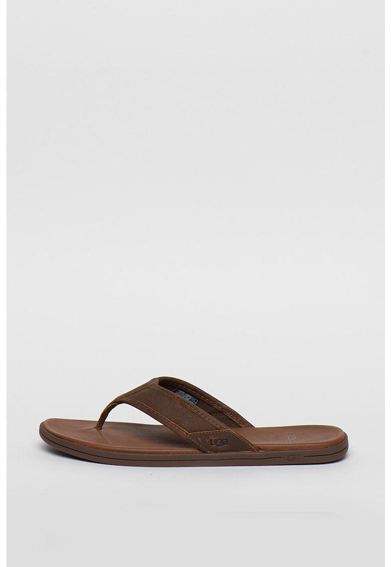 Papuci flip-flop de piele Seaside