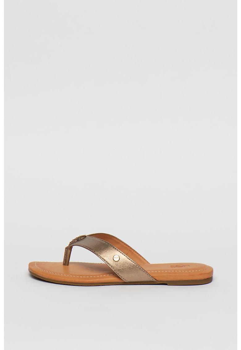 Papuci flip-flop de piele ecologica Tuolumne