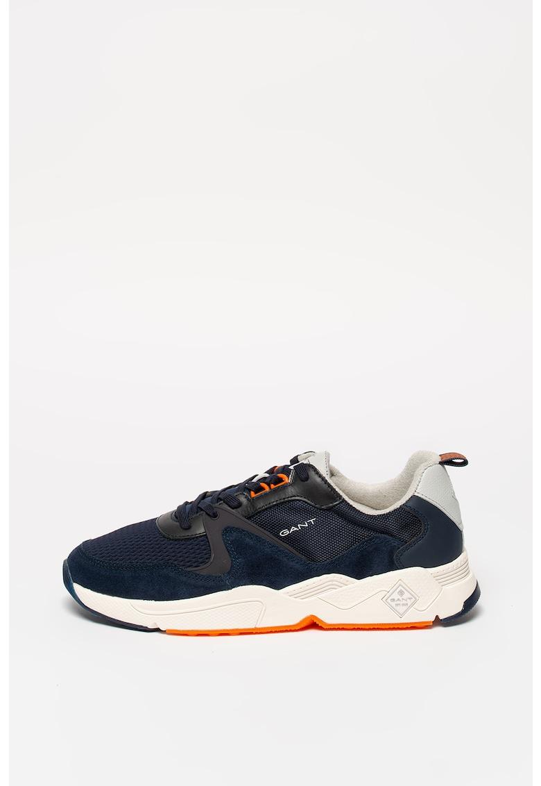 Pantofi sport cu insertii de piele ecologica Anton 2