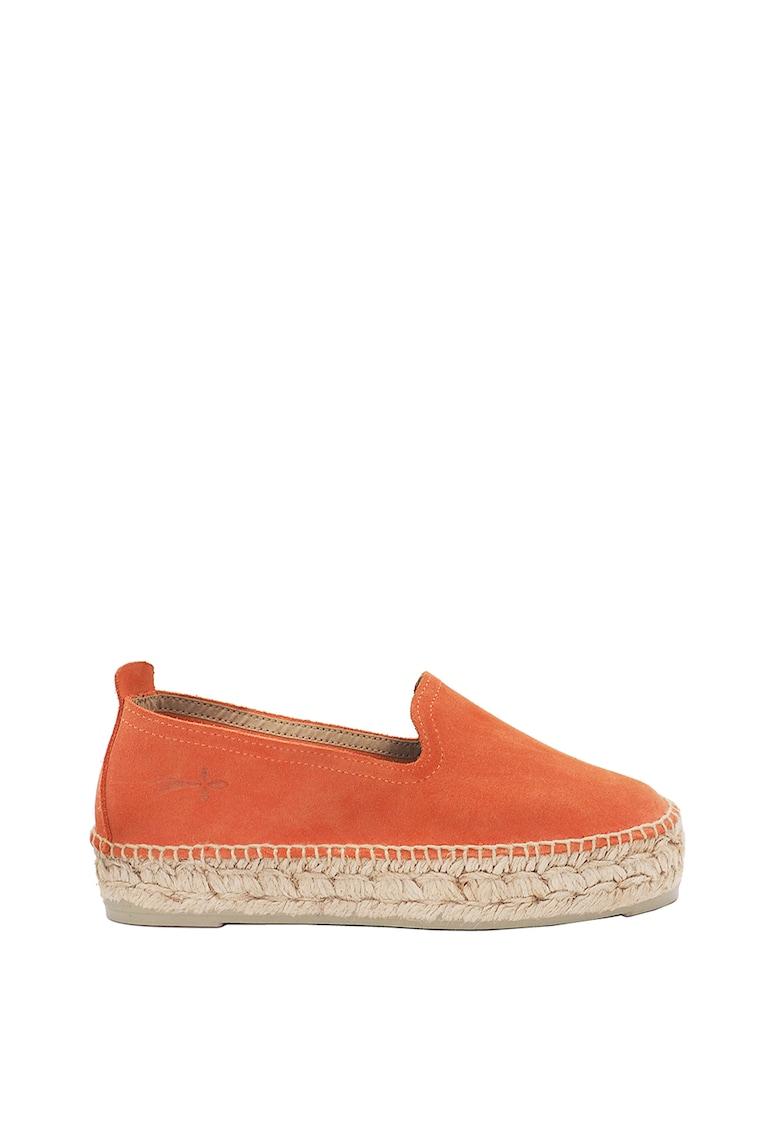 Pantofi loafer tip espadrile din piele intoarsa Hamptons imagine