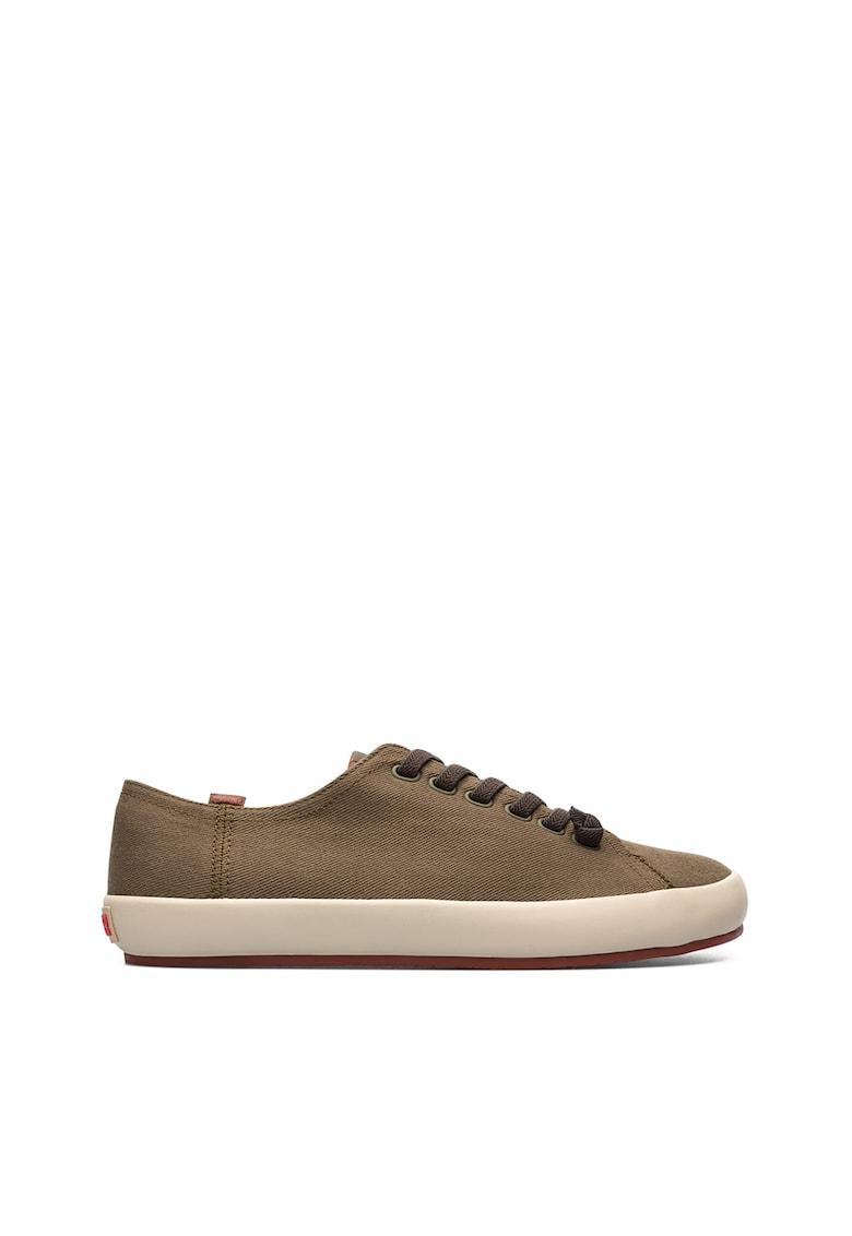 Pantofi sport cu insertii din piele si piele intoarsa Lake 3