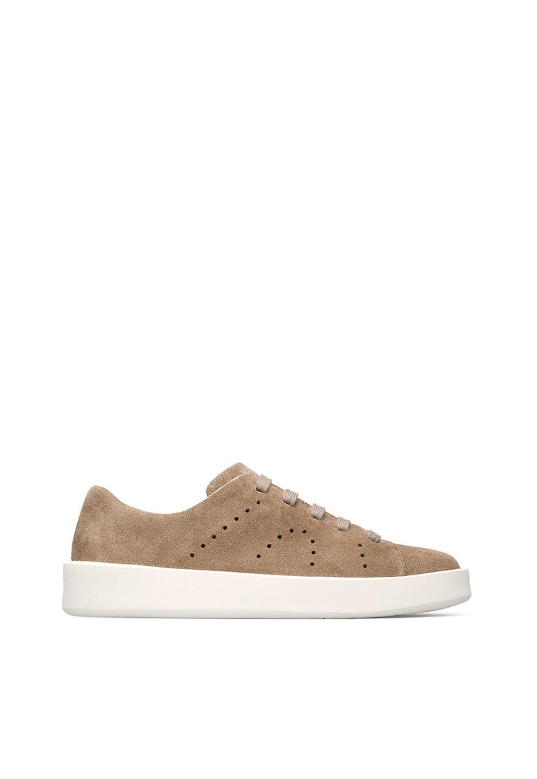 Pantofi sport de piele nabuc cu model perforat 1