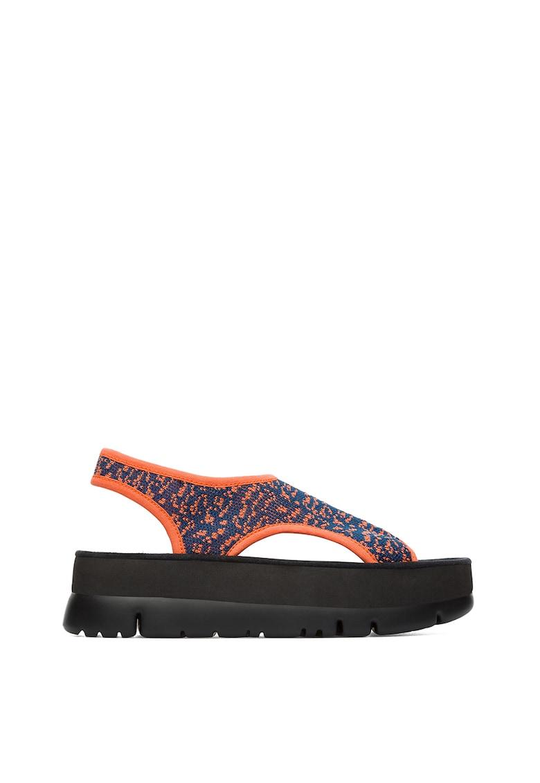 Sandale de plasa cu platforma Oruga
