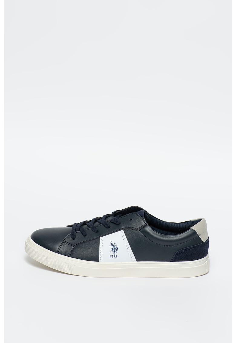 Pantofi sport de piele ecologica - cu garnituri de piele intoarsa ecologica Alen 1
