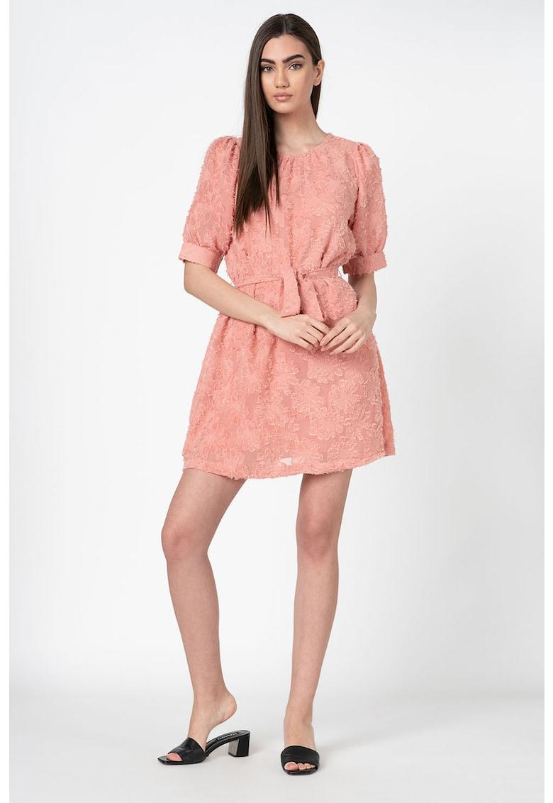 Rochie mini din dantela - cu maneci bufante Laura Vero-Moda