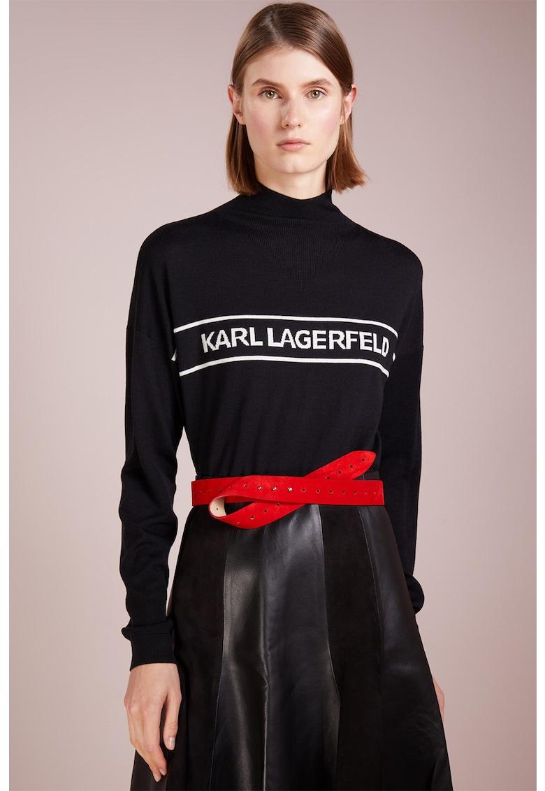 Bluza sport de lana cu imprimeu logo imagine