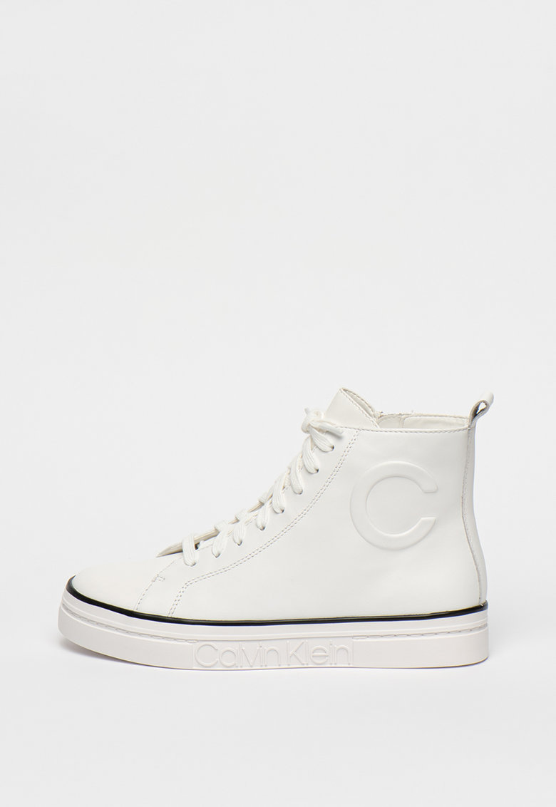 Pantofi sport high-top de piele Katrice
