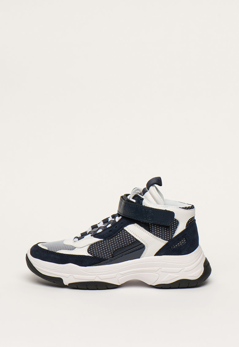 Pantofi sport mid-high cu insertii de plasa si piele intoarsa Missie