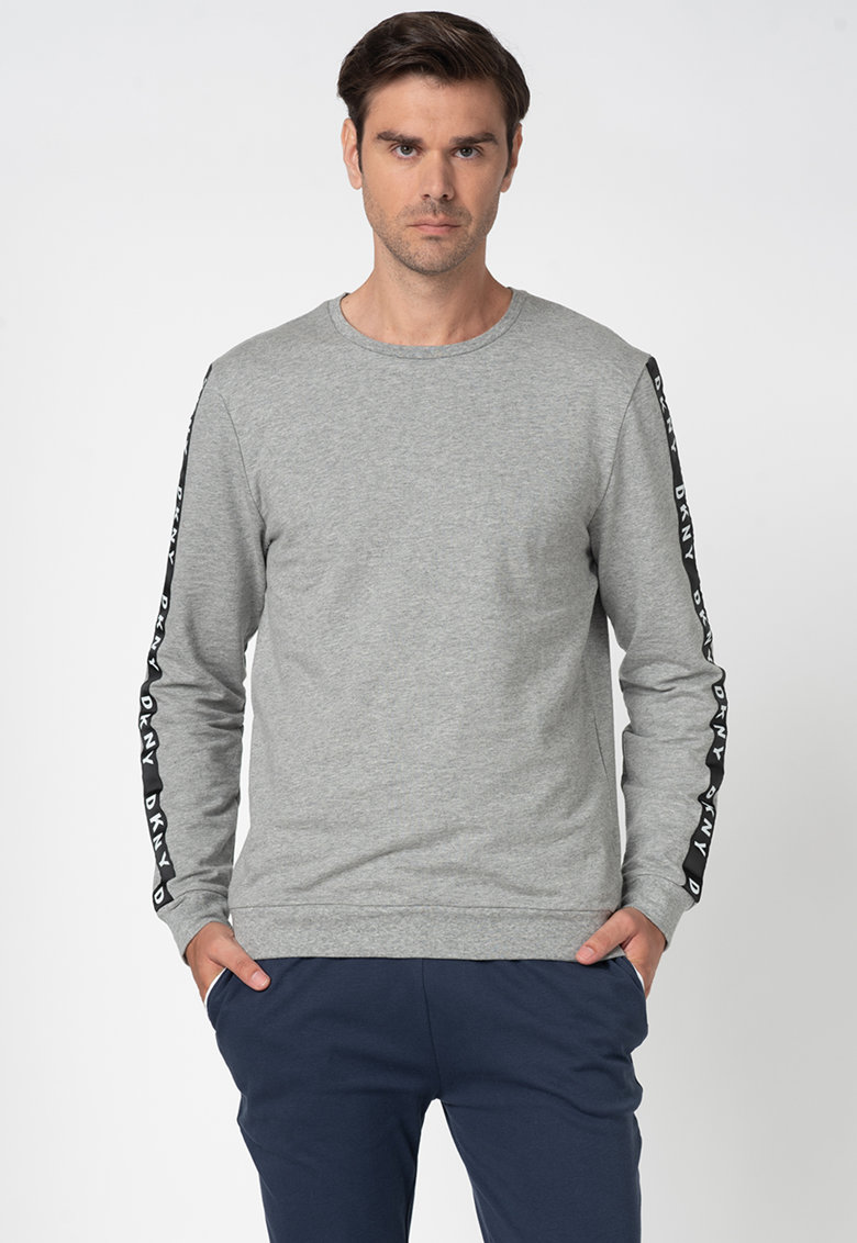 Bluza sport de casa cu segmente logo contrastante