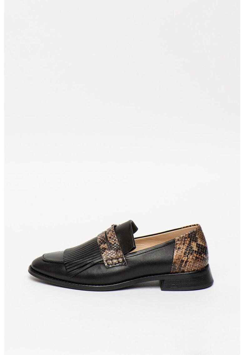 Pantofi loafer din piele Loel imagine