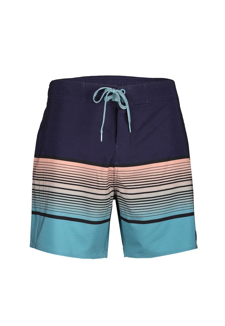 Pantaloni scurti de baie cu model si snur de ajustare in talie Salimu