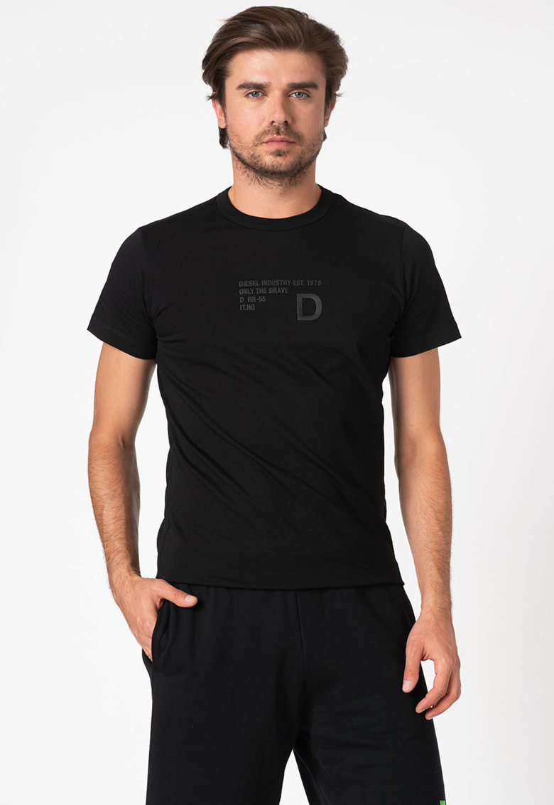 Tricou cu imprimeu text T-Digeo Bărbați imagine
