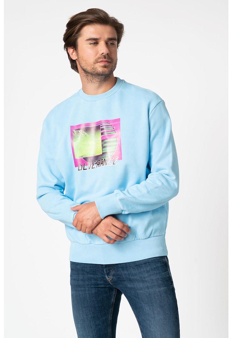Bluza sport cu imprimeu grafic S-Biay