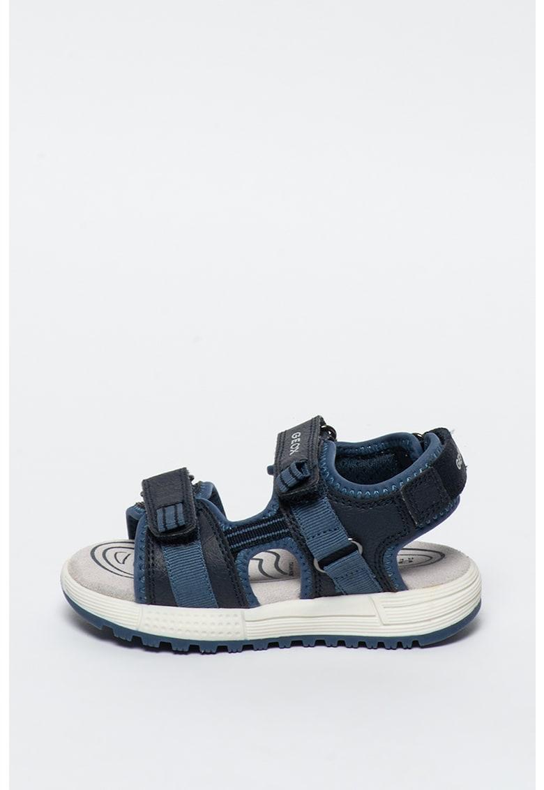 Sandale cu garnituri de piele ecologica Alben