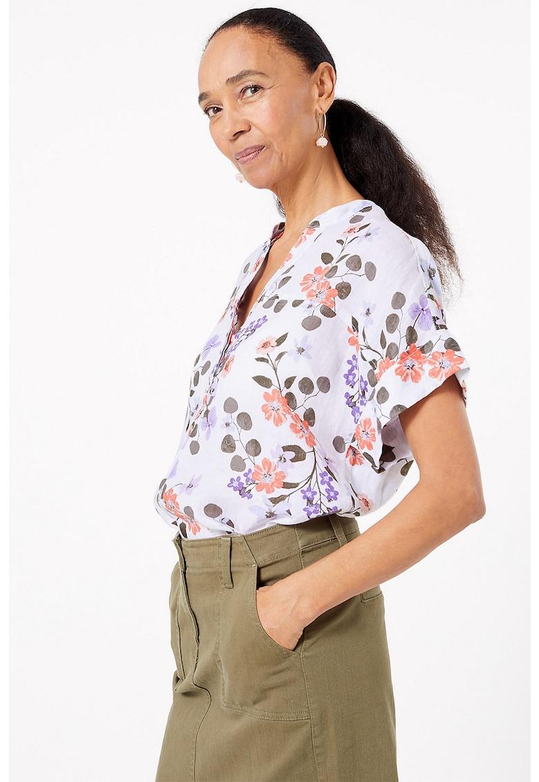 Bluza tip tunica de in cu imprimeu floral