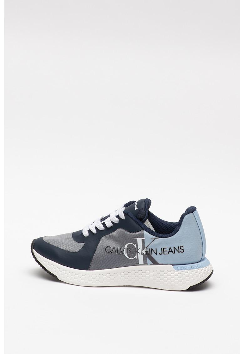 Pantofi sport de piele ecologica si material textil Amedea