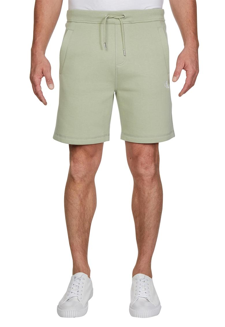 Pantaloni sport scurti cu broderie logo
