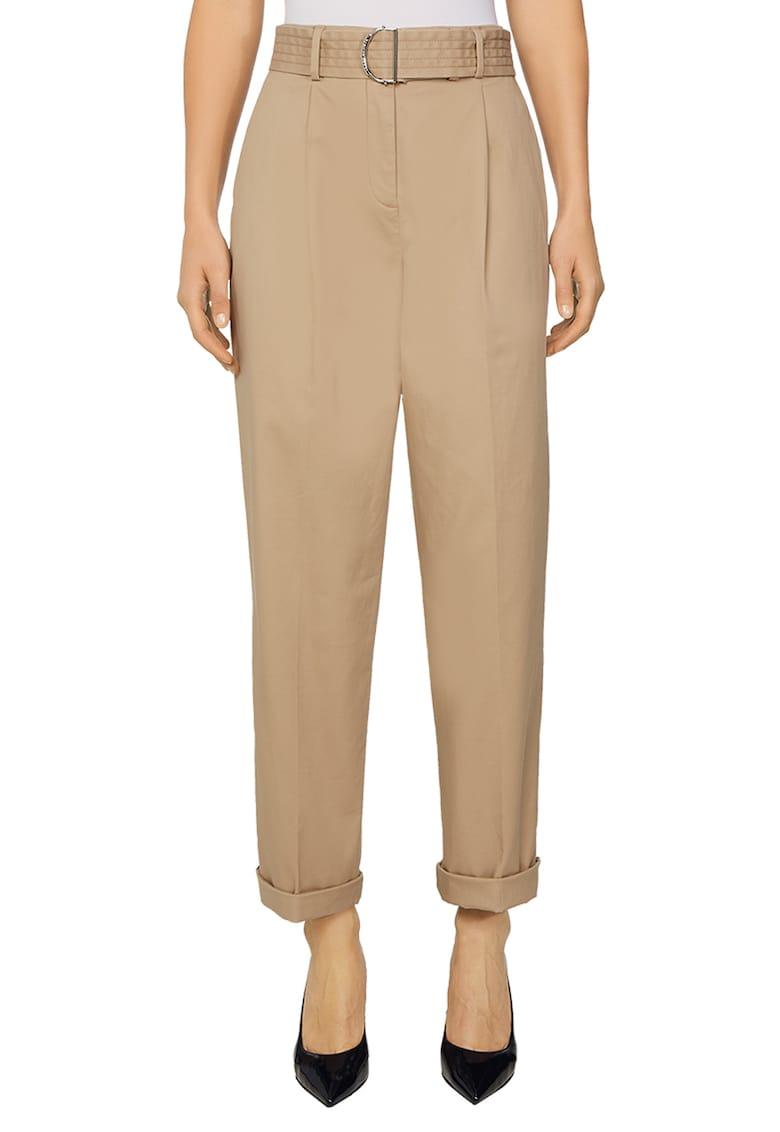 Pantaloni cu talie inalta si o curea imagine fashiondays.ro