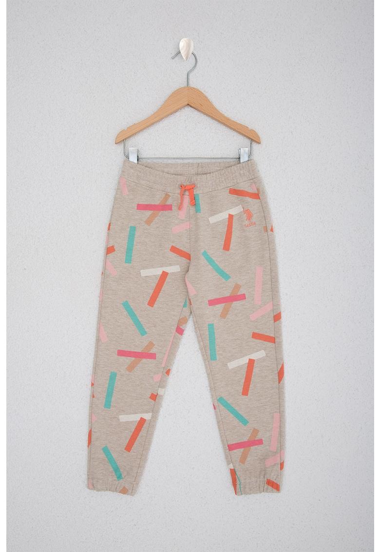 Pantaloni lungi cu imprimeu grafic