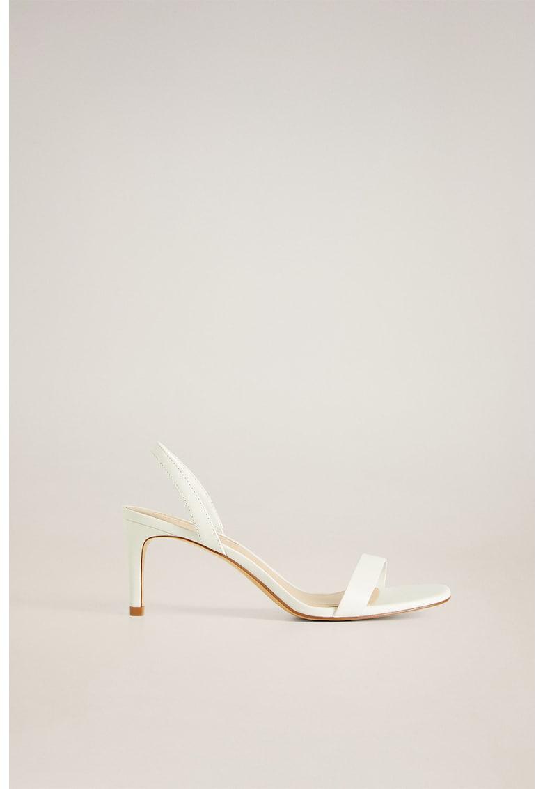 Sandale slingback din piele Cora