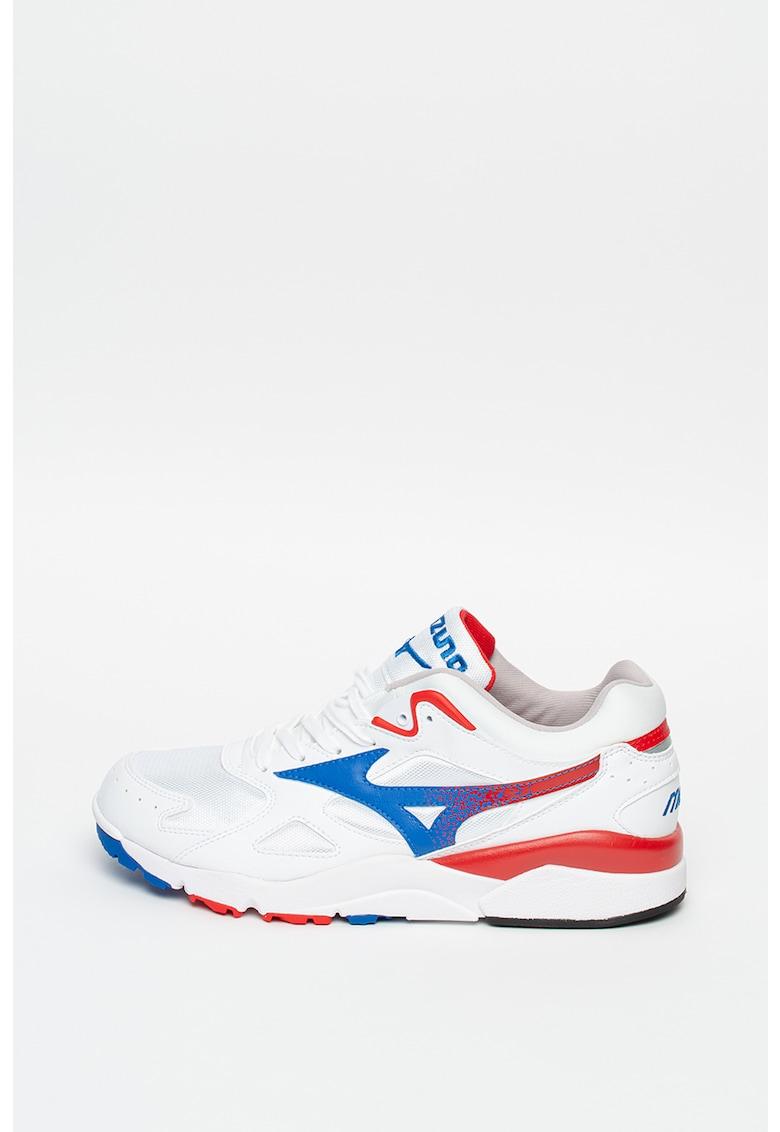 Pantofi sport din piele ecologica cu insertii din plasa Sky Medal