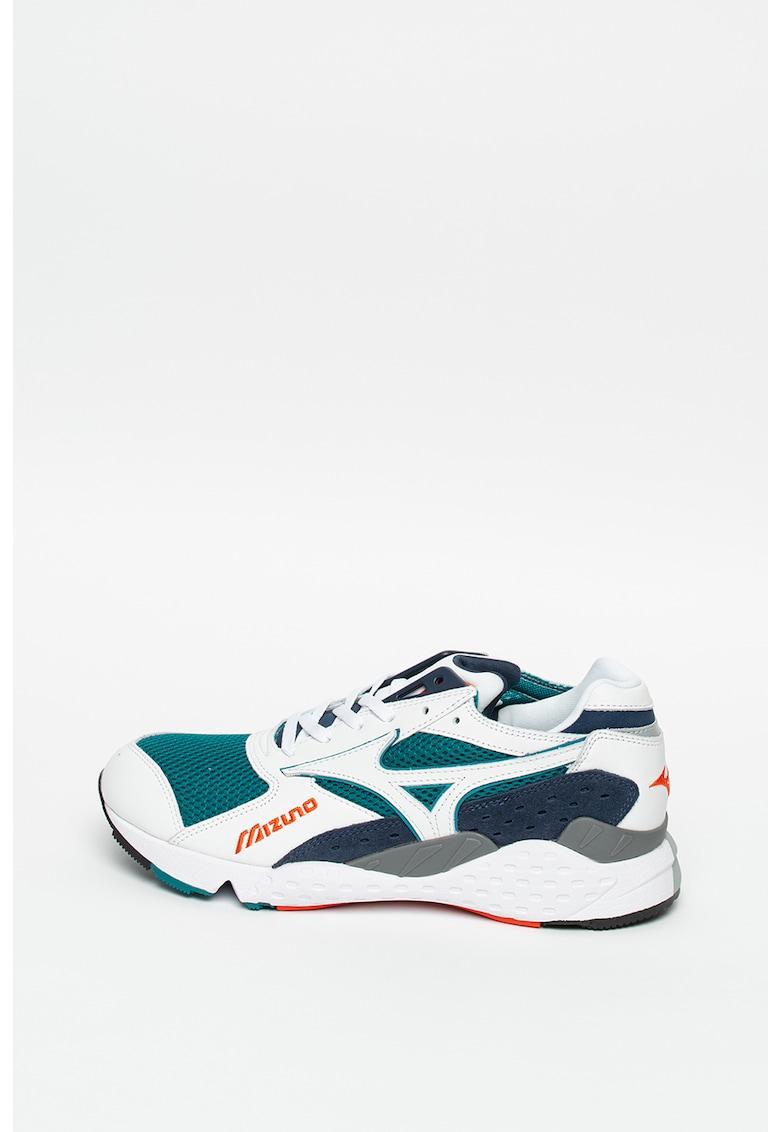 Pantofi sport din plasa cu garnituri din piele intoarsa si piele Mondo Control