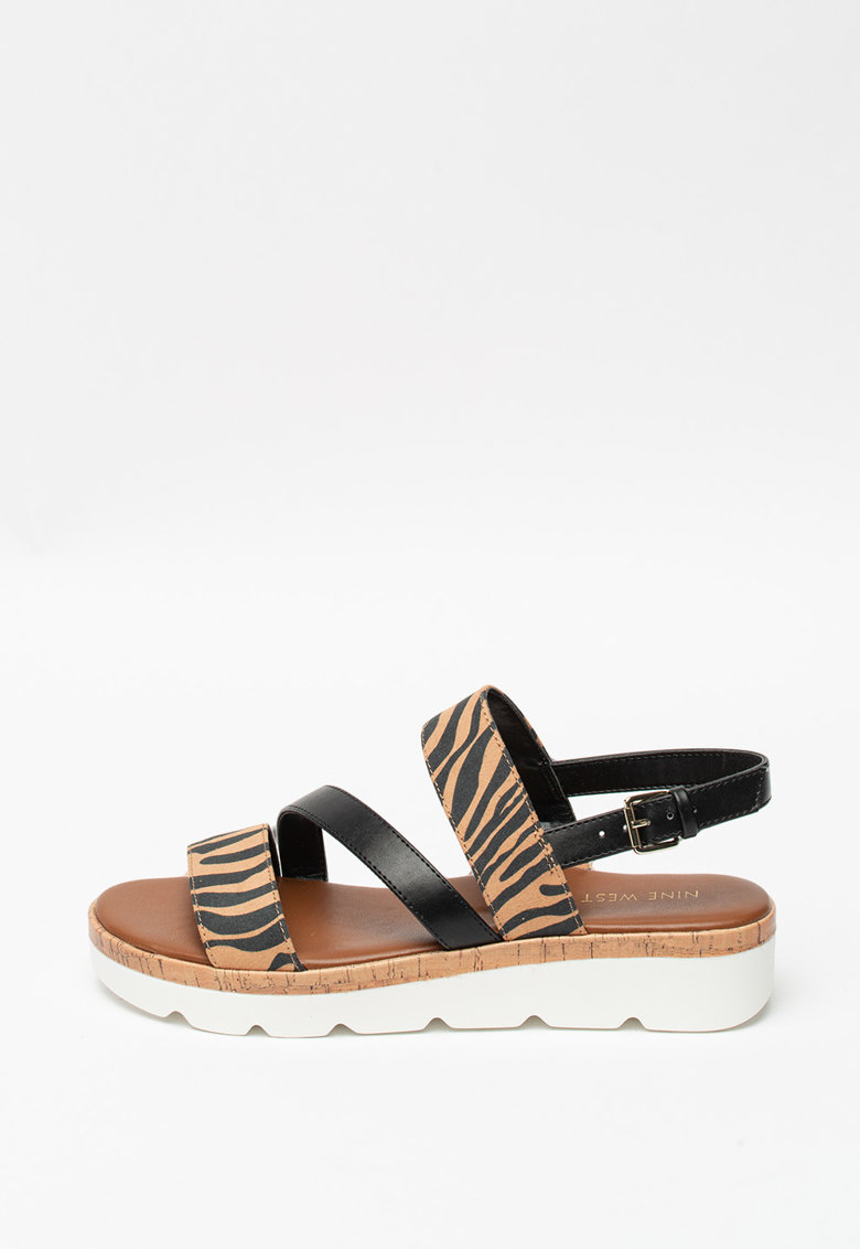 Sandale cu animal print Billie