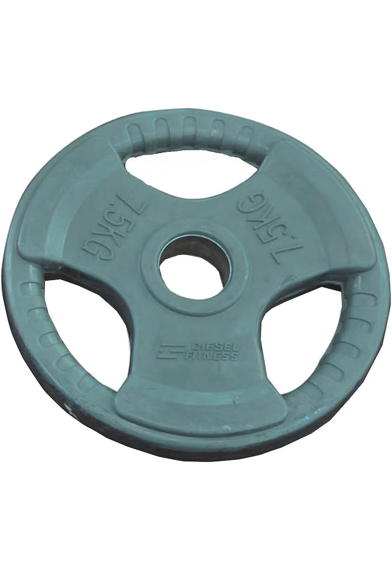 Disc olimpic coating cauciuc - 7.5 kg - Gri