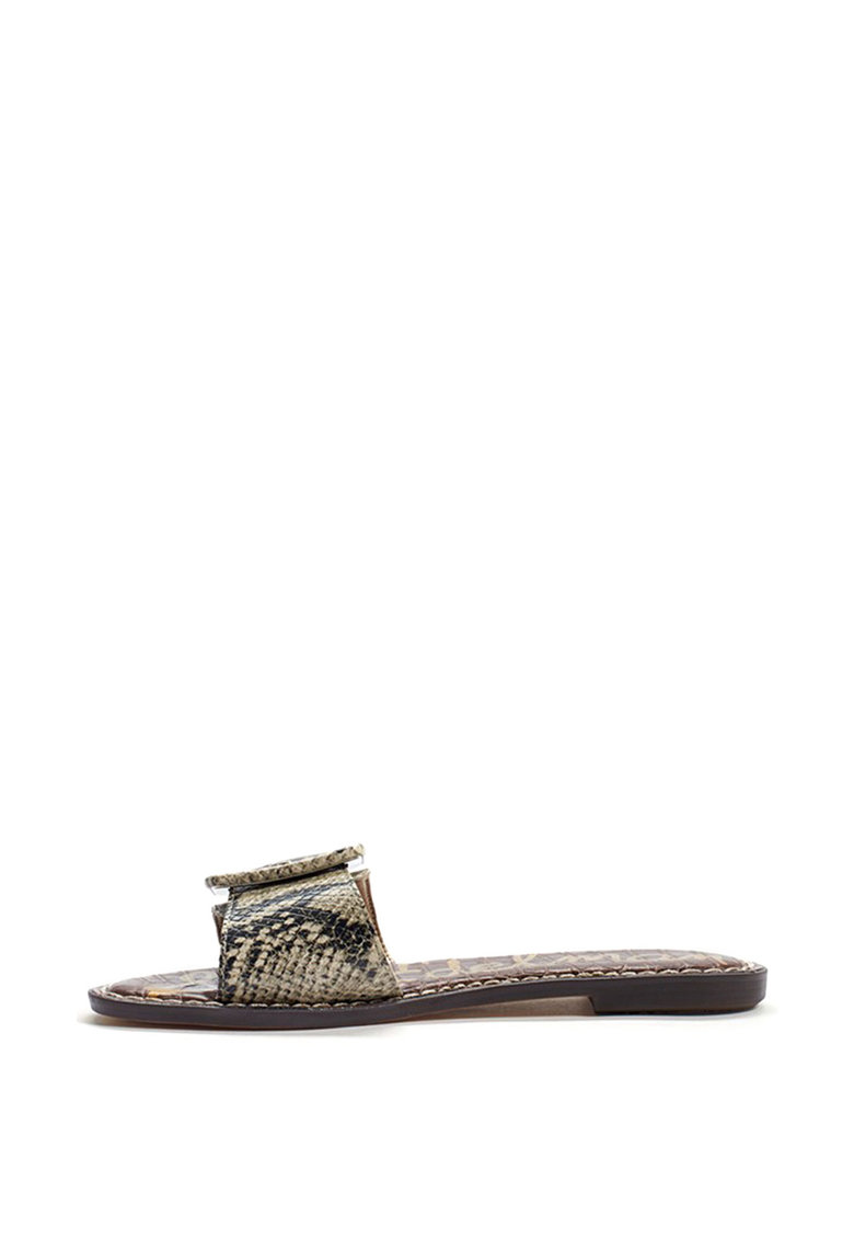 Papuci de piele ecologica cu catarama Granada poza fashiondays