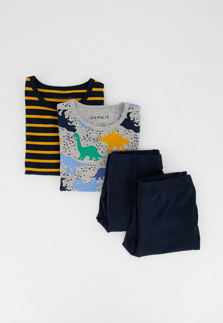 Set de pijamale din amestec de bumbac organic - 2 perechi imagine