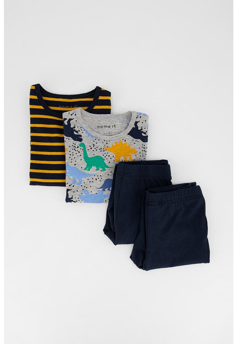 Set de pijamale din amestec de bumbac organic - 2 perechi