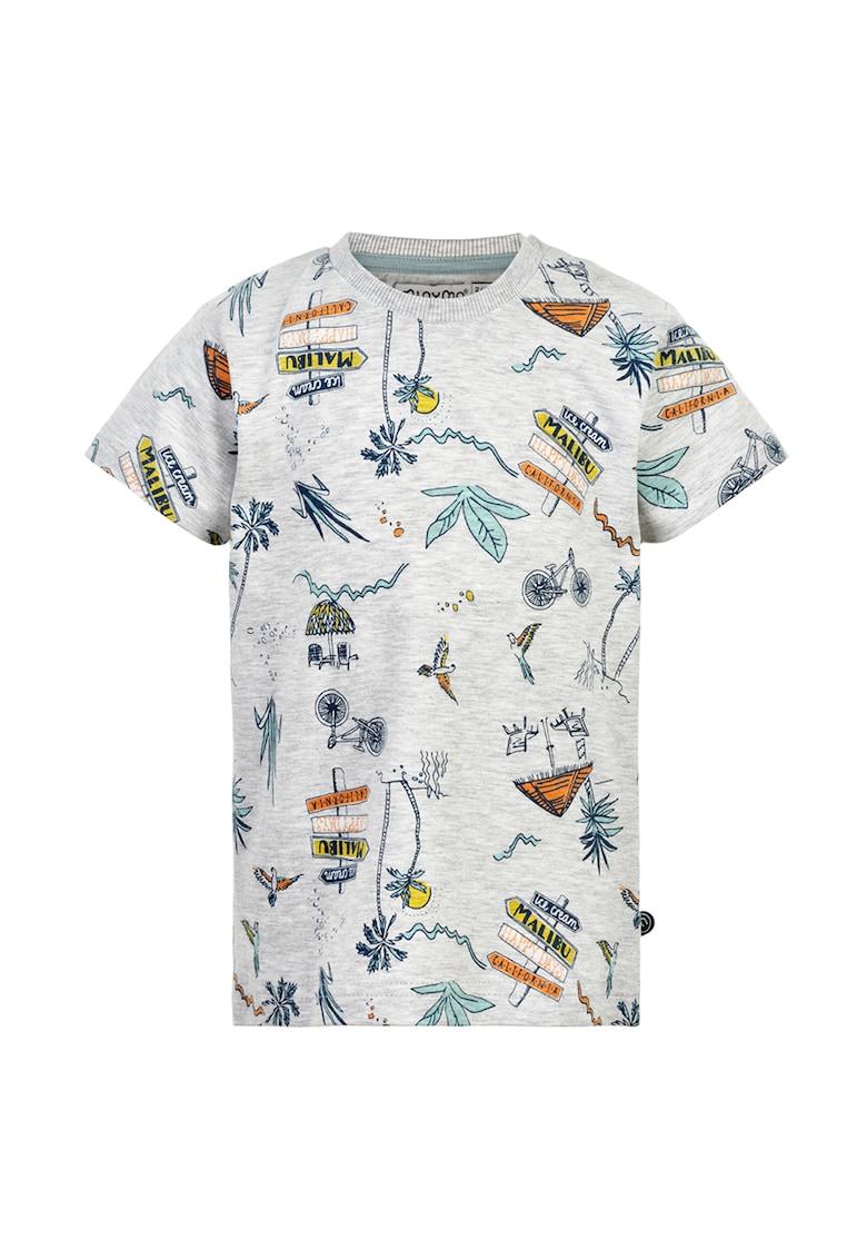 Tricou cu imprimeu abstract