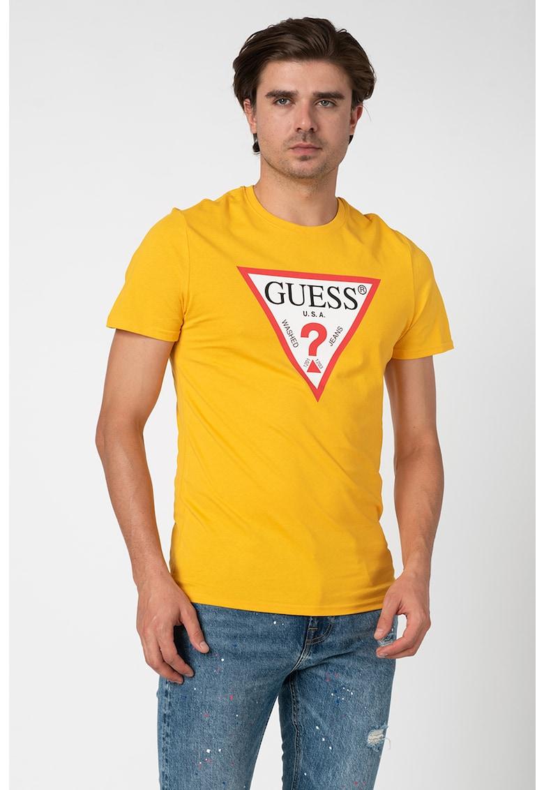 Tricou slim fit cu imprimeu logo 59 imagine