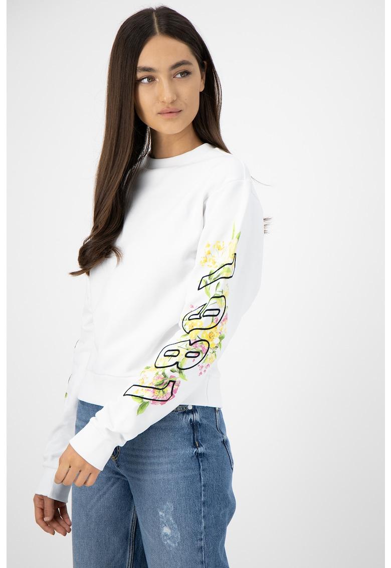 Bluza sport cu imprimeu grafic si logo b