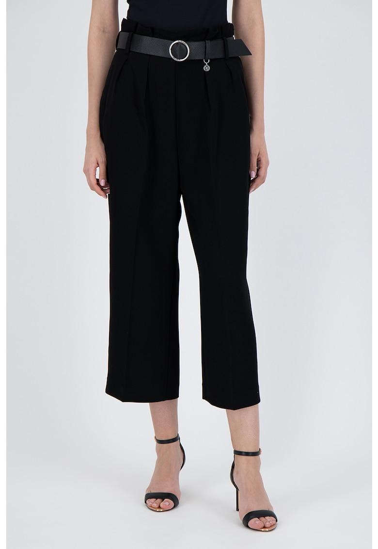 Pantaloni culotte cu o curea in talie poza fashiondays