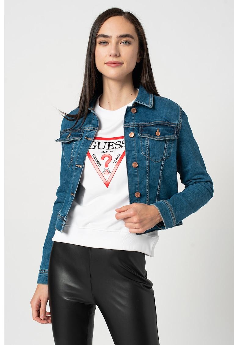 Jacheta din denim cu buzunare