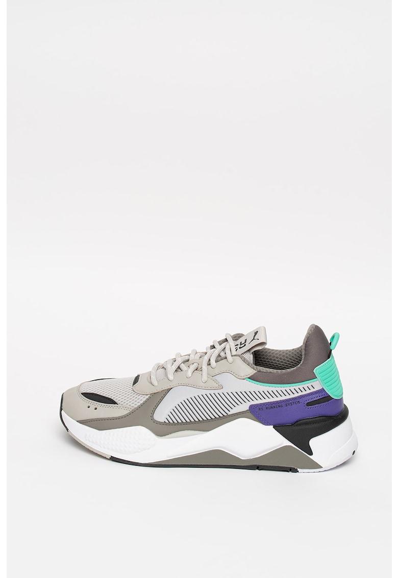 Pantofi sport cu insertii de piele ecologica RS-X Tracks