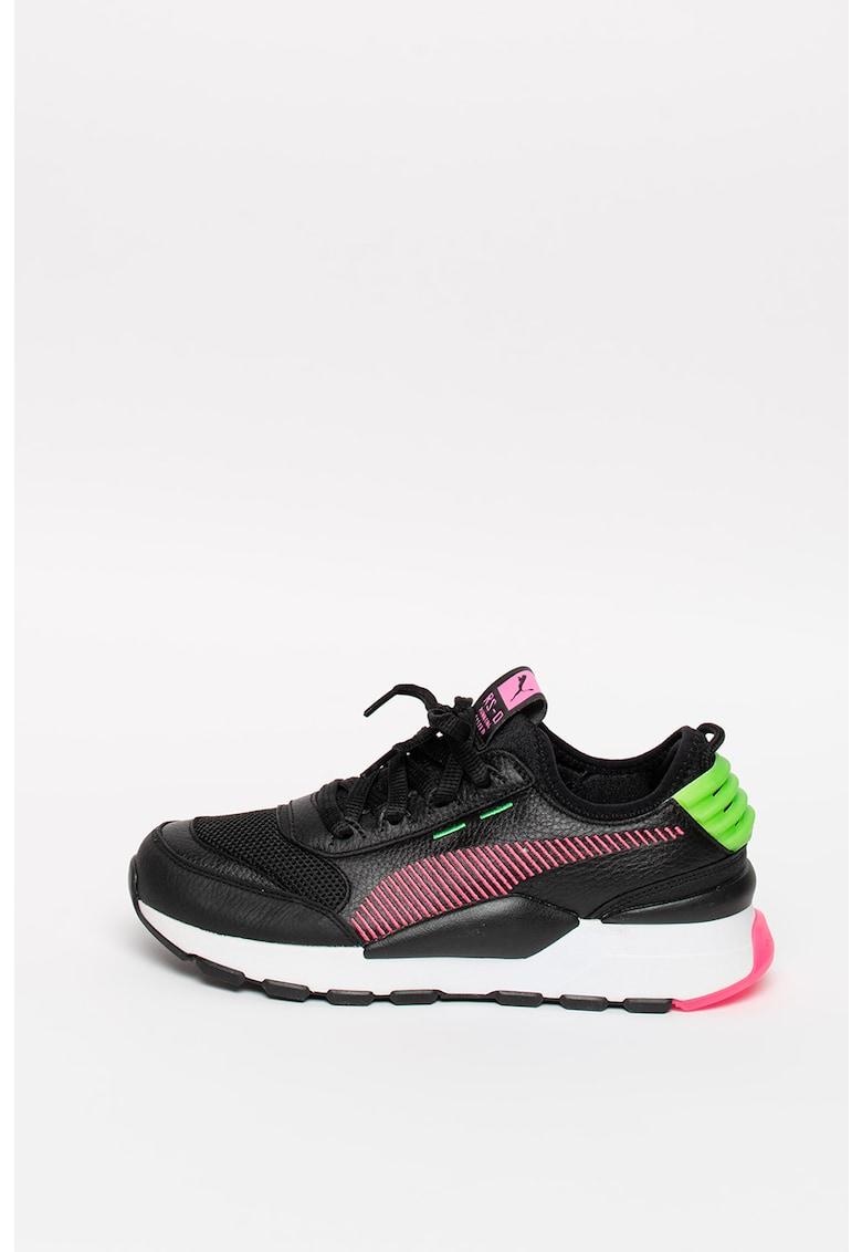 Pantofi sport de piele cu insertii de plasa RS-0 Rein
