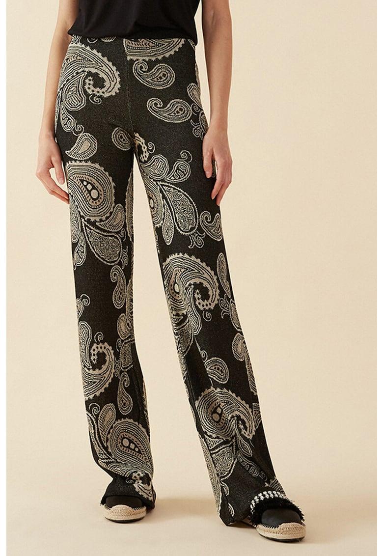 Pantaloni evazati - cu imprimeu