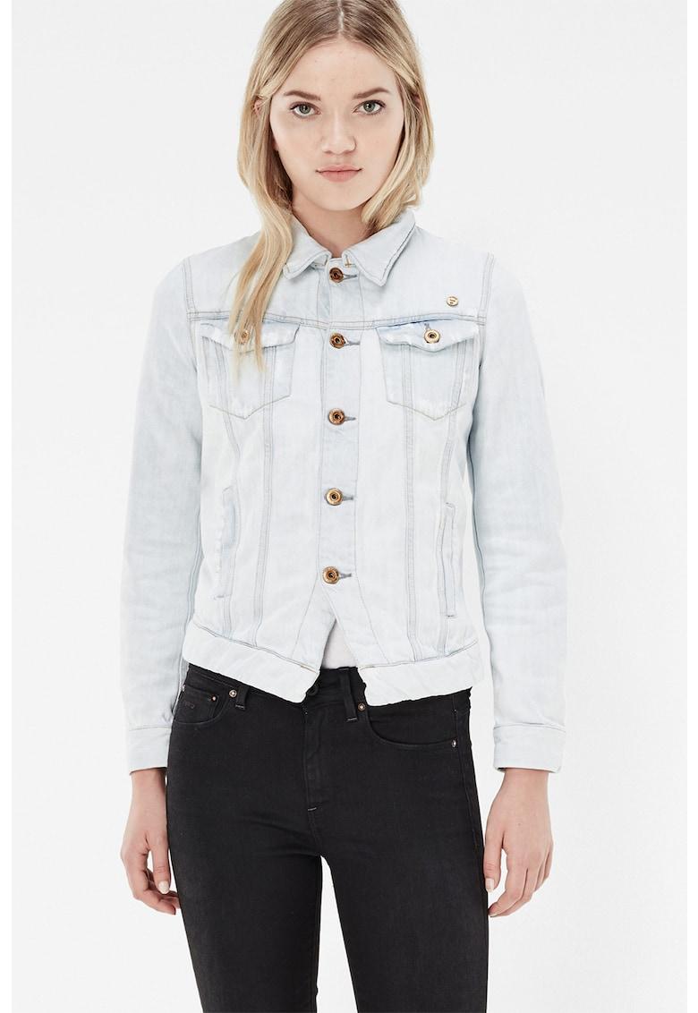 Jacheta din denim cu buzunare aplicate 3301
