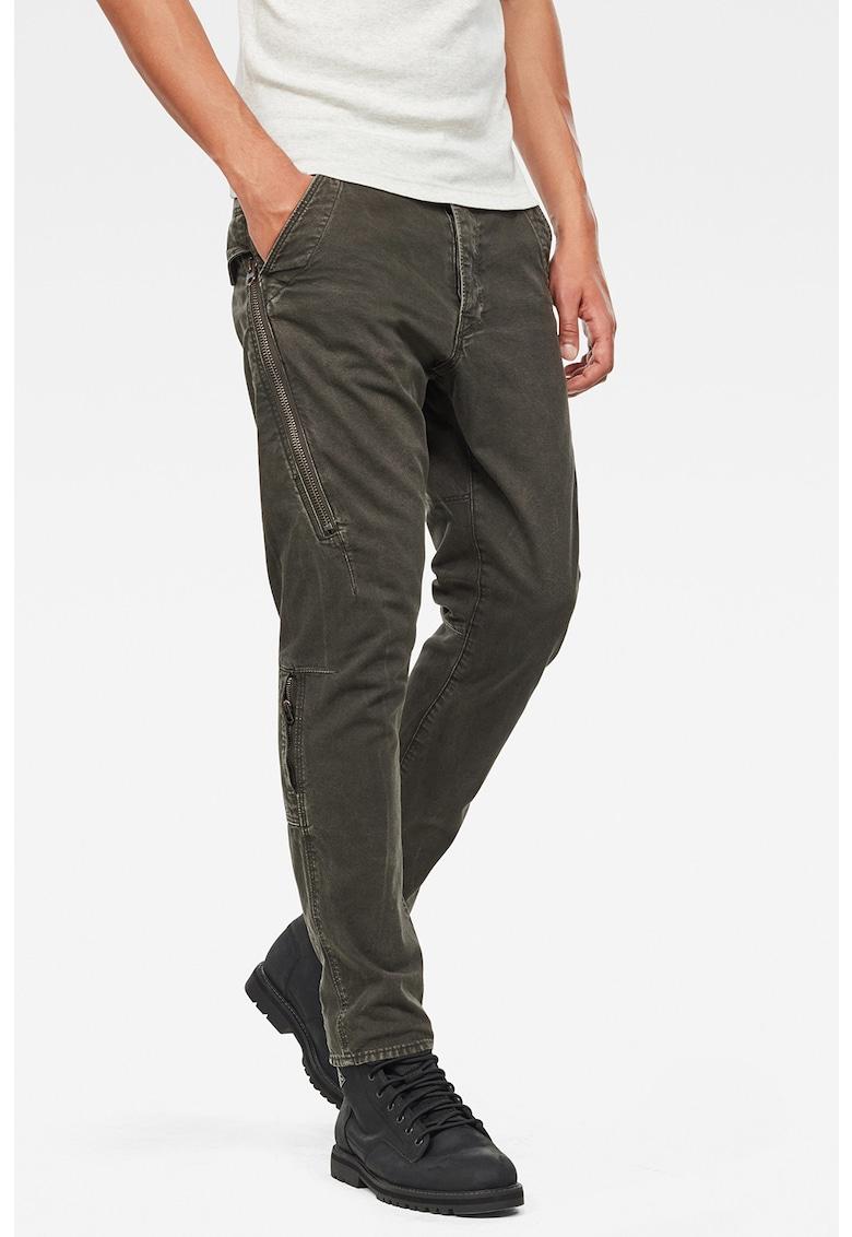 Pantaloni conici din bumbac organic