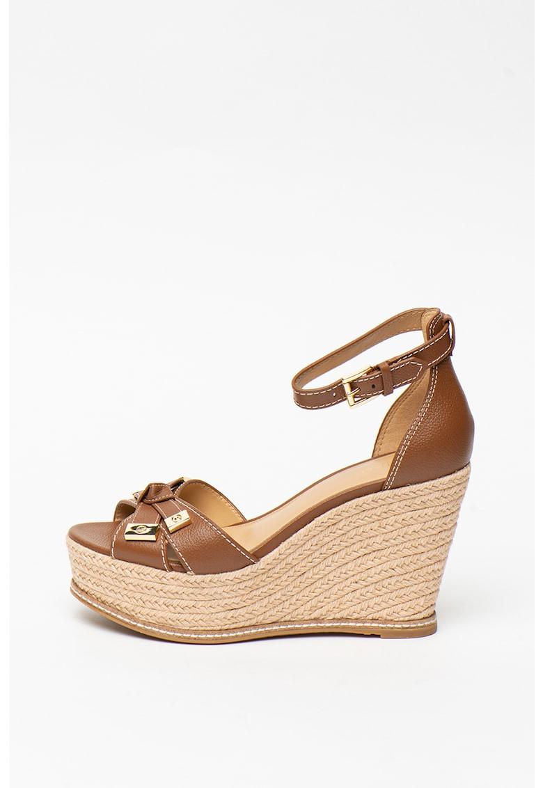 Sandale wedge tip espadrile de piele Ripley