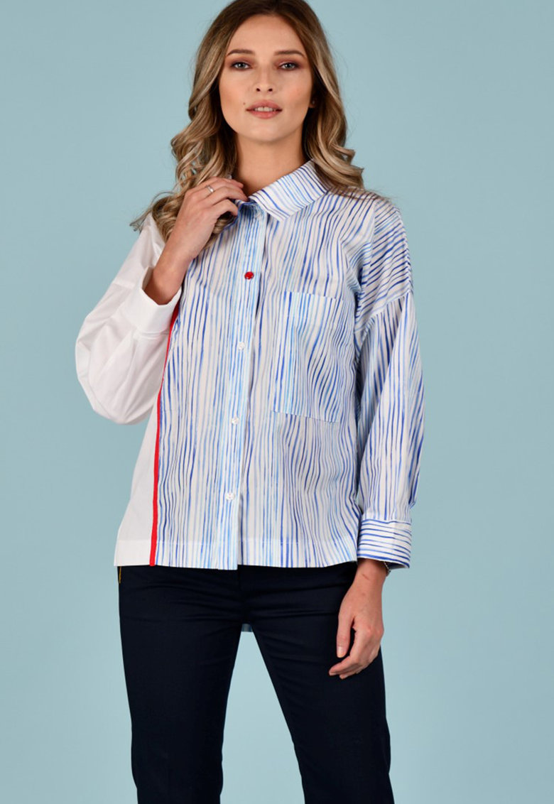 Camasa cu dungi si maneci lungi Format Lady fashiondays.ro
